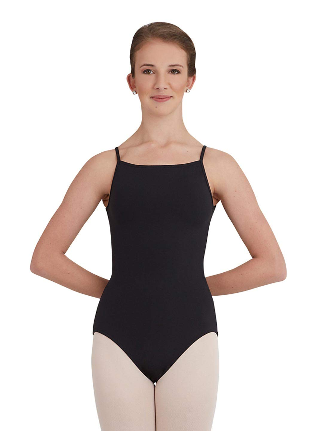 Capezio Sunburst Mock Turtle Leotard - Size Large, Black by Capezio