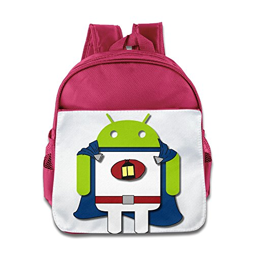Price comparison product image XJBD Custom Personalized Super Android Robot Kids School Bag For 1-6 Years Old Pink