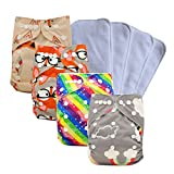 Best Bottoms Inserts Smalls - Ohbabyka Reusable Pocket Cloth Diapers Washable Adjustable One Review