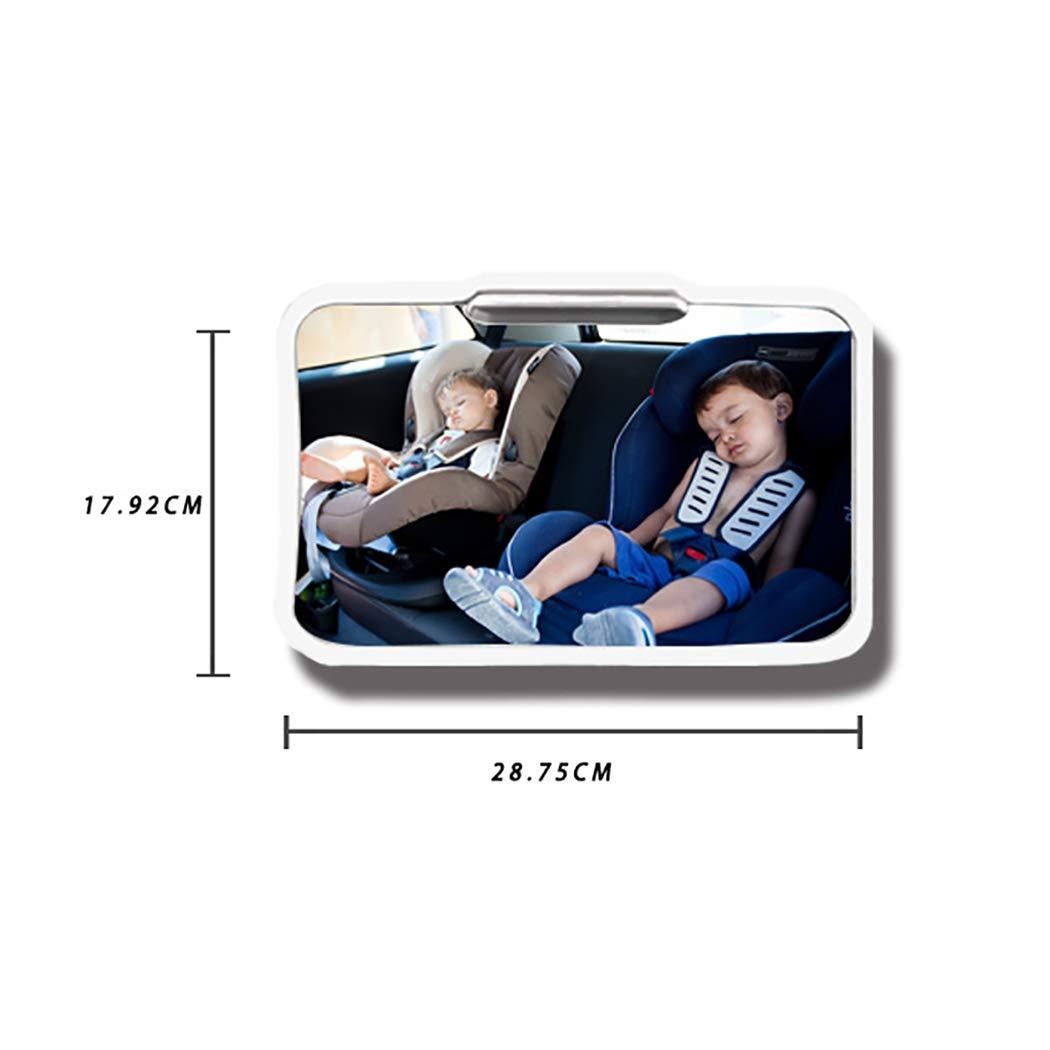 LanPerro Baby-Autospiegel R/ückseitig Baby-Autospiegel Bruchsicherer Sicherheitsrahmen,Schwarz Mit Fernbedienung Weiche Led-Nachtlicht-Ansicht R/ückseitig Kind Auf Dem R/ücksitz
