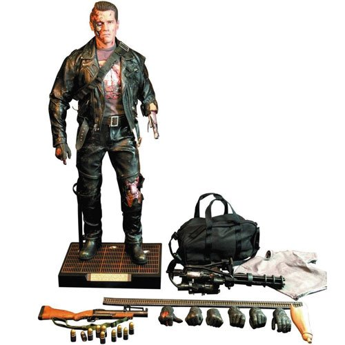 Enterbay Battle Damaged Version Terminator 2 T-800 HD Masterpiece Action Figure