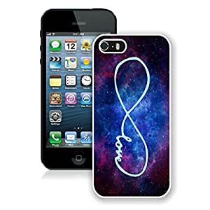 BINGO good review Forever love - Infinity Nebula iPhone 5 5S Case White Cover