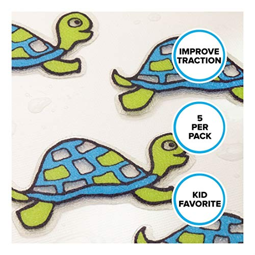 Turtle Tub Tattoos: 5 Green Decals, Treads, Appliques for Bathtubs by Unknown