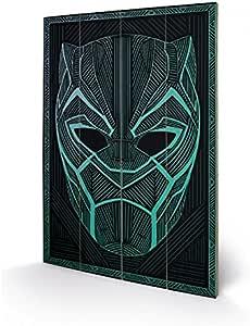 1art1 Black Panther - Tribal Mask Cuadro De Madera (60 x 40cm): Amazon.es: Hogar