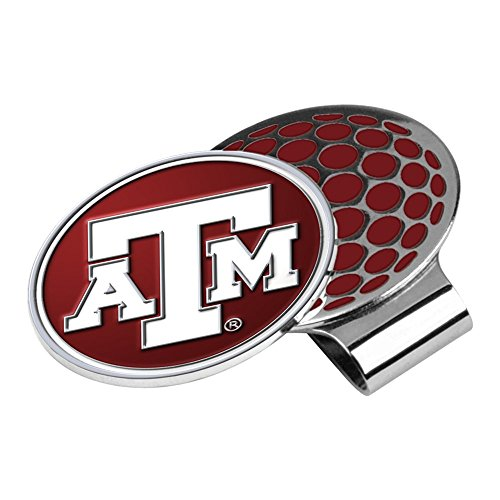 LinksWalker NCAA Texas A&M Aggies - Golf Hat Clip with Ball (Texas A&m Golf Gear)