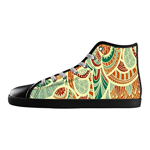 Dalliy Farbige Paisley-Print Mens Canvas shoes Schuhe Lace-up High-top Sneakers Segeltuchschuhe Leinwand-Schuh-Turnschuhe E