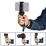 Fantaseal Ergonomic Smartphone Handhled Grip Stabilizer Holder for Apple iPhone Grip Stabilizer Support Cellphone Handle Selfie Stick for iPhone etc w/Cellphone Clip (3.5''-5.7'')-Improved Version