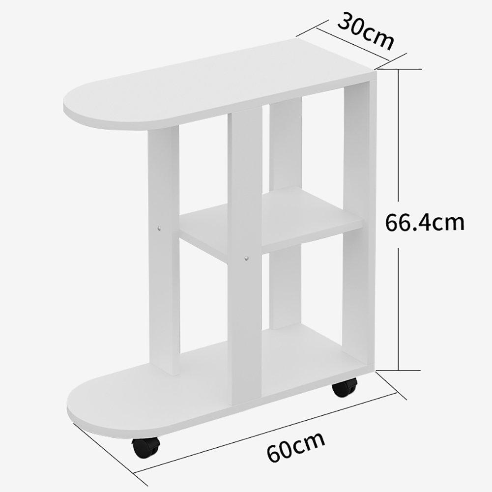 Amazon.com: D & L madera impermeable mesa auxiliar, forma de ...