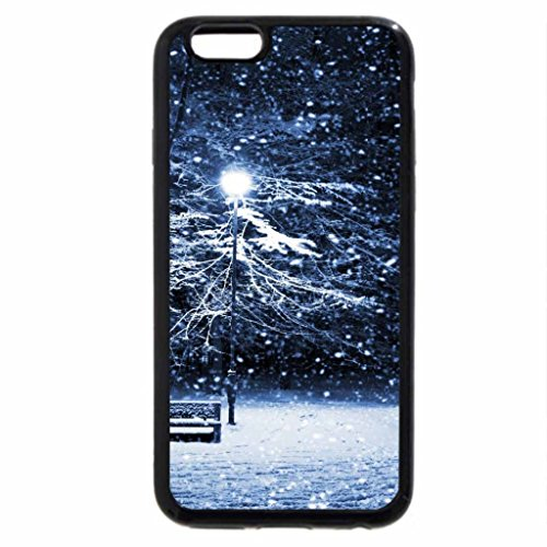 iPhone 6S Case, iPhone 6 Case (Black & White) - Snowy Park Bench