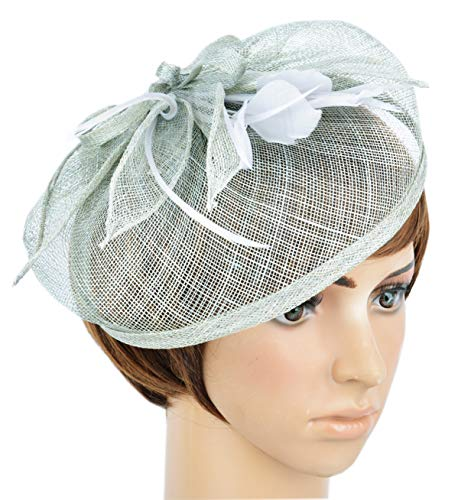 AM CLOTHES Fascinators Hat For Women With Hair Clip Tea Party Derby Ivory