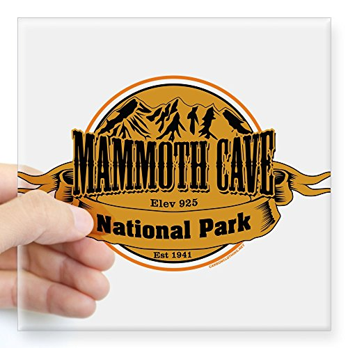 "CafePress Mammoth Cave, Kentucky Sticker Square Bumper Sticker Car Decal, 3""x3"" (Small) or 5""x5"" (Large)"