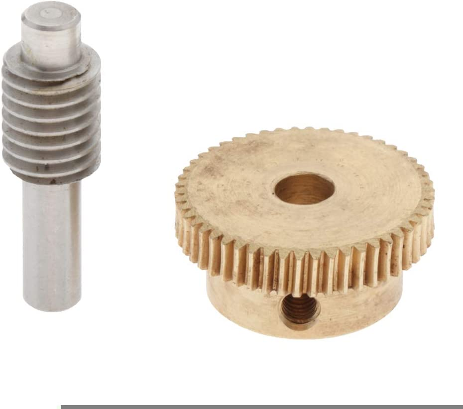 Arbres de Transmission en Laiton 30 dents perfk 32mm Pignon /à Vis sans Fin de 0.5mm Module