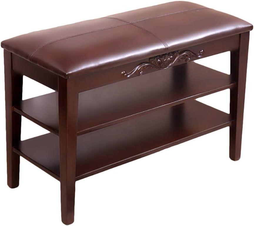 靴のベンチの変更靴のベンチ収納スツール収納ボックス、純木 (色 : A, サイズ さいず : 70*35*55cm)