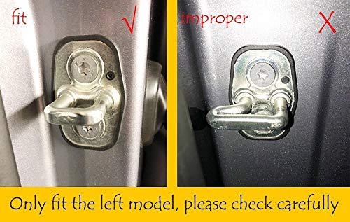 2 piezas FashLady Env/ío gratis con insignia Para PEUGEOT 5008 4008 308 207 DoorCover tapones de protecci/ón de acero inoxidable coche-estilo