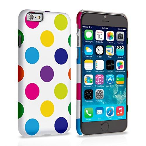 Caseflex iPhone 6 / 6S Hülle Mehrfarbig Tupfen Hart Schutzhülle