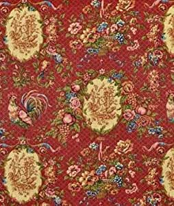 Amazon Com Waverly Saison De Printemps Bordeaux Fabric