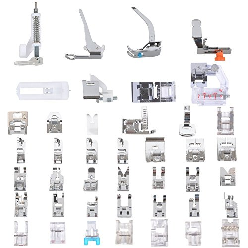 Professional Domestic 52 PCS Sewing lower limb Presser lower limb Presser Feet Set for Singer Brother JanomeKenmore BabylockElnaToyotaNew HomeSimplicity And Low Shank Sewing Machines By awesome ADAPTER Presser Feet