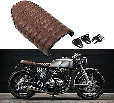 Amazon com: Brown Flat Brat Universal Cafe Racer Seat