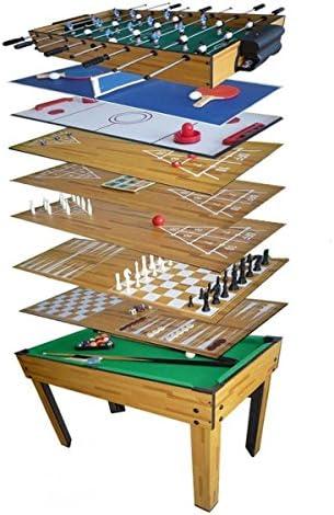 Mesa de Juegos 10 en 1, billar, futbolín, ping pong: Amazon.es: Deportes y aire libre