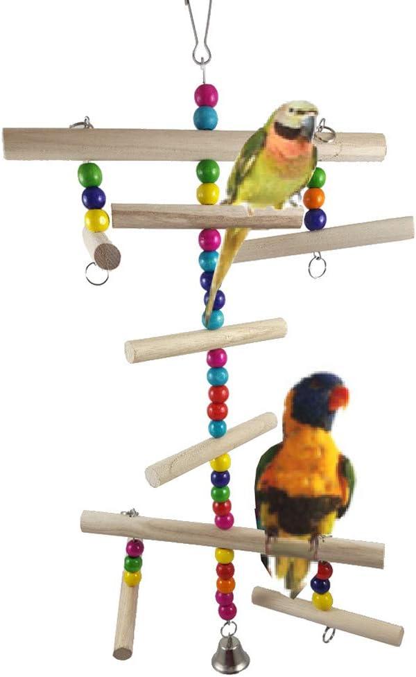 FeiyanfyQ - Perlas de Madera para Loro, árbol de Navidad, para Colgar, Jaula de Mascotas, Accesorios Decorativos, Ejercicio, Saludable