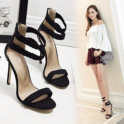 Band Foot Female Sandals Apricot High 39 Classic Braided 11Cm Like GTVERNH Slotted The Strap Heeled Fine CaqwXStXx