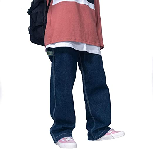 Smileメンズ 大きいサイズ ジーンズ デニムパンツ ゆったり ワイドパンツ ストレート オールシーズン レディース ジーンズ