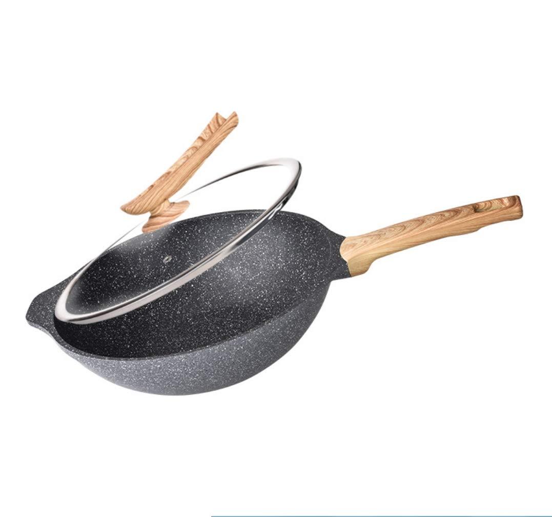 clásico atemporal Maifan Stone - 32 Cm YIZHANGMaifanshi Wok sartén sartén sartén Antiadherente para el hogar sin Aceite Humo sartén Cocina a Gas Universal  Nuevos productos de artículos novedosos.
