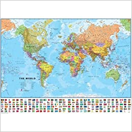 Laminated world map with flags 41 x 29 9781934006023 amazon laminated world map with flags 41 x 29 1st edition gumiabroncs Gallery