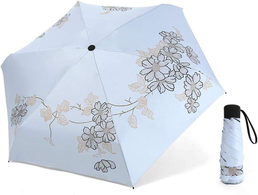 JUNDY Paraguas Compacto y Resistente al Viento, Paraguas Plegable, Conveniente para Viajes Sombrilla Plegable de plástico Negro Sombra de Paraguas Plegable colour3 94cm: Amazon.es: Hogar