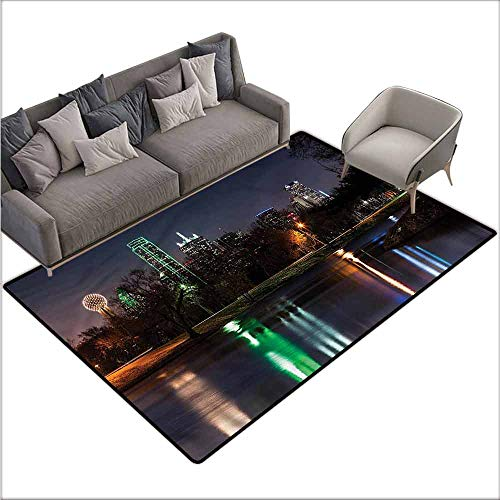 Non-Slip Bath Hotel Mats USA,Dallas City Skyline Lake Park 80