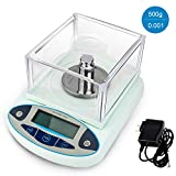HomEnjoy 500g x 0.001g Laboratory Digital Scale Analytical Balances Jewelry Scales Gold Scales High Precision Electronic Balance Scales Scientific Lab Instrument 110v
