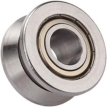 V Groove Guía Rodamiento de Bola de acero para puerta corredera rueda de rodillo de guía 10 × 30 × 14 mm: Amazon.es: Bricolaje y herramientas