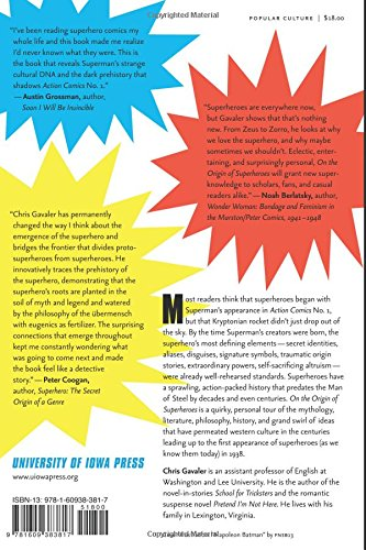 On The Origin Of Superheroes: From The Big Bang To Action Comics No. 1:  Chris Gavaler: 9781609383817: Amazon.com: Books