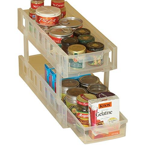 Sliding Cabinet Storage Organizer, 2-Tier