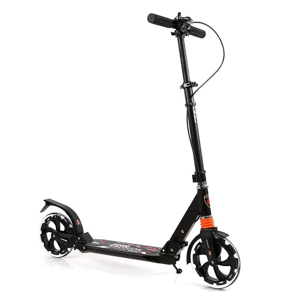 【特価】 スクーターを蹴る子供たち ダブルブレーキ強化スクーター、キックスクーター B07R41X9PM、折りたたみスクーター、衝撃吸収スクーター 白) (色 : : 白) B07R41X9PM ブラック ブラック, 大川市:43d7affb --- 4x4.lt