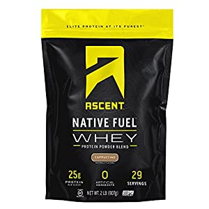 Ascent Native Fuel Whey Protein Powder – Made with Native Whey – Zero Artificial Ingredients – Gluten Free