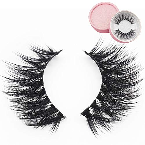 3D Fake Eyelashes Makeup MZ BEAUTY Hand-made Dramatic Thick Crisscross Deluxe False Lashes Black Nature Fluffy Long Soft Reusable 1 Pair Pack (MA10)