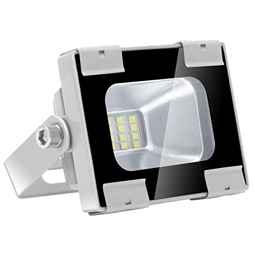 Sararoom 10W Foco LED Exterior, IP65 Impermeable Proyector led exterior,1000LM Reflector LED,Floodlight,Blanco Frío 6600K, para ...