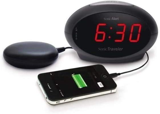 Geemarc Sbt600 Vibrationswecker Mit Extra Lautem Alarm 75 Db Vibration Deutsche