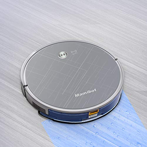 Mamibot EXVAC660 Robotic Vacuum and Mop Cleaner-2000Pa Super Power Suction Compatible with Alexa and Google Assistant, WiFi APP Control Auto-Charging Perfect for Pet Hair, Carpet & Hard Floor