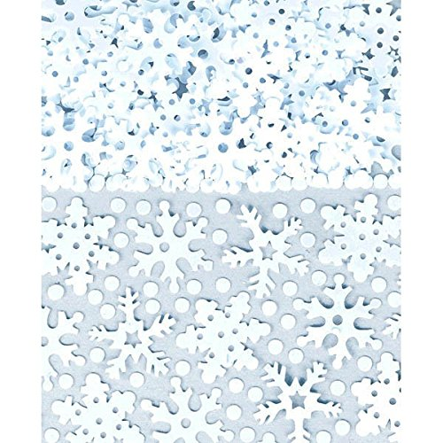 Amscan 1 Count Christmas Sparkly Snow White Confetti , 2.5 oz Snowflake Fancy Dress