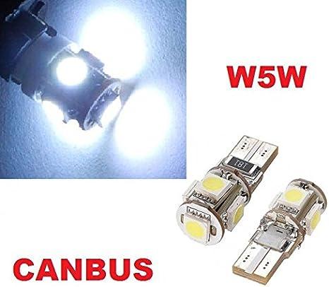 Inion/® T10/x 5/Power SMD LED /éclairage int/érieur x/énon blanc /Éclairage de plaque min/éralogique et et feu de position 12/V ampoules de soffiten Blanc froid 12/V