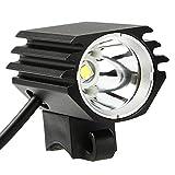 VGEBY - Faro Delantero para Bicicleta, Recargable por USB, LED, con Cable USB y Bandas de Goma