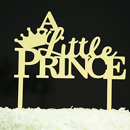 Betalala Gold Crown Little Prince Cake Topper Shower Birthday Wedding Party Decoration