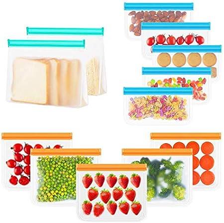 ❤【3 Tamaños de Bolsas piezas almuerzo 】Las bolsas de congelador en diferentes tamaños satisfacen sus
