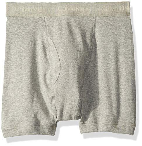 Calvin Klein Men's Underwear Cotton Classics Boxer Briefs - Large - Heather Grey (Pack of 3)