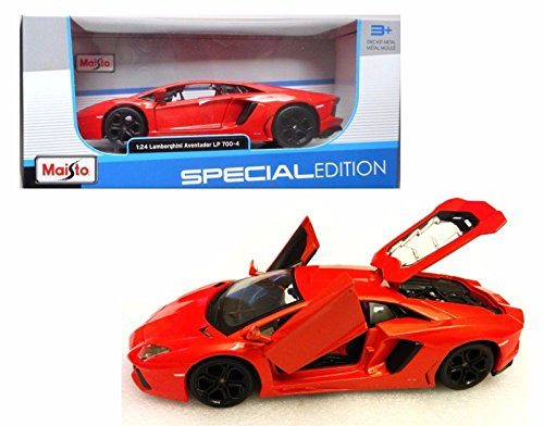 New 1:24 W/B SPECIAL EDITION - ORANGE 2011 LAMBORGHINI AVENTADOR LP-700 Diecast Model Car By Maisto - Special Edition Diecast Model