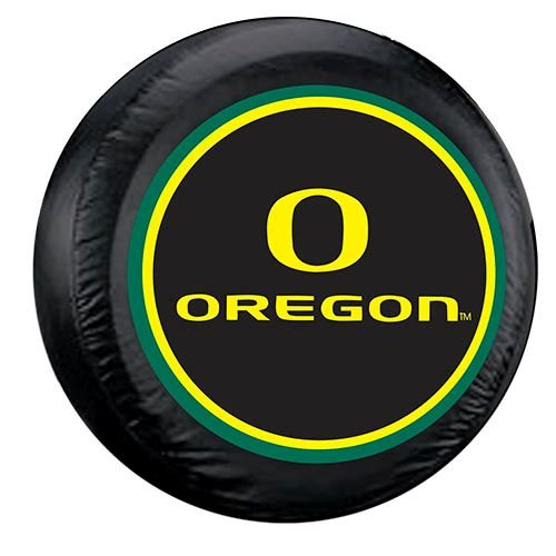 Oregon Ducks Black Spare Tire Cover by Fremont Die