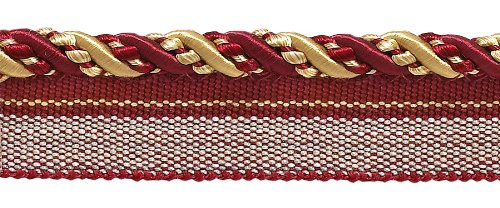 10 Yard Value Pack of Medium Burgundy Red, Gold 4/16