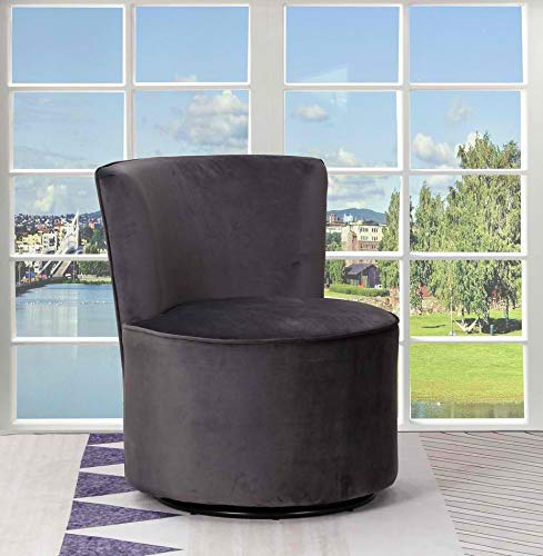 Amazon.com: Blackjack Furniture A41-DARK_Gray-CH Leena ...